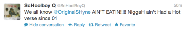 Schoolboy Q GKMC tweet